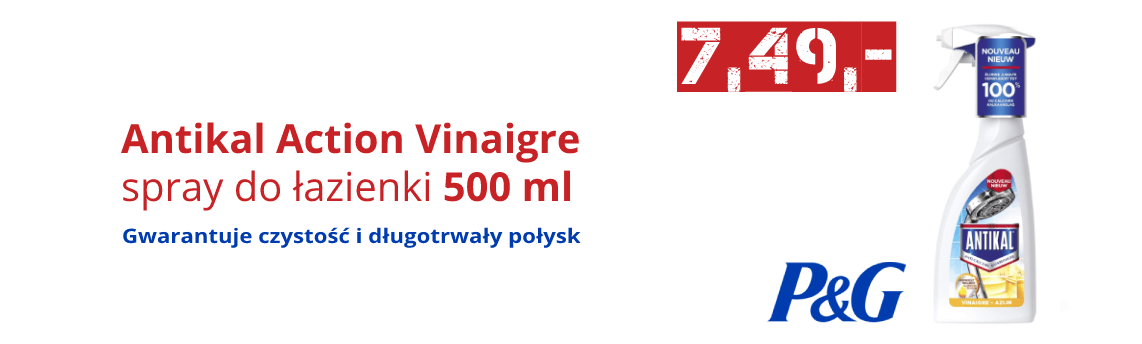 Antikal Action Vinaigre Spray do łazienki 500 ml