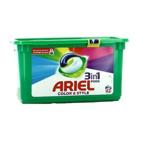 Ariel 3in1 Color & Style Kapsułki do prania 43 sztuki