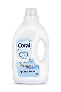 Coral Optimal White 26 prań Żel do prania bieli 1,25l