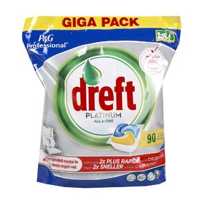DREFT PLATINUM kaps do zmywarki Lemon 90szt NEW