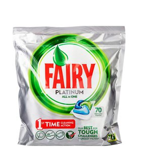 Fairy Platinum All in One Kapsułki do zmywarki 70 sztuk